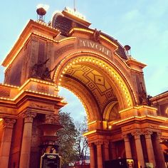 The entrance to the cosy #Tivoli Gardens in #Copenhagen! Don't miss out of the great music events during the #summer!