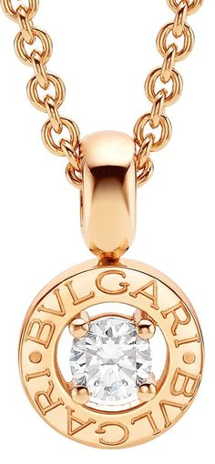 Brand New Bvlgari Pink Gold .25ct Diamond Necklace | Luxify | Luxury Within Reach