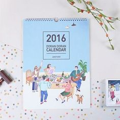 Buy BABOSARANG 'Doran Doran' Series 2016 Wall Calendar (L) at YesStyle.com! Quality products at remarkable prices. FREE WORLDWIDE SHIPPING on orders over €34.