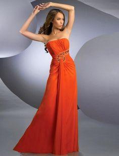 2015 Sheath Column Strapless Floor-length Taffeta Prom Dress Evening Dress