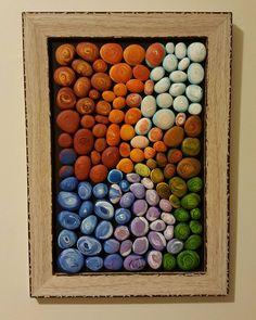Tablonun çerçeveli hali. #tasboyama #tastasarim #paint #paintingrocks #stoneart #stonepainting #tablo #homedecor #dekorasyon #handmade #elyapimi #kisiyeozelhediye #hediye #colors #creative #soyut #satilik #siparisalinir #gift #rocks