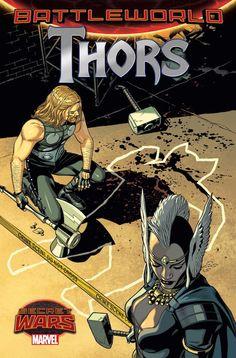 """Thor v5, 55 Una colección ligada a """"Secret Wars"""". Continúa la saga de las fuerzas policiales del Mundo de Batalla. Más asesinatos, más misterios, más versiones de Thor… como por ejemplo, el Thor Groot. Y quizá un vuelco en el caso, después de la aparición de un sorprendente sospechoso."""