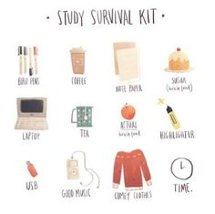 """look cute study hard is part of School study tips - coffeegeekblr """" So I did my last 3 exams today and I did really well on math was not easy at all so idk how I went but I'M IN WINTER BREAK! ❄️💙 not my pic """" Middle School Hacks, High School Hacks, Life Hacks For School, School Study Tips, Middle School Supplies, College Supplies, College Hacks, College Study Tips, High School Essentials"""