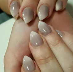 Taupe n white ombré