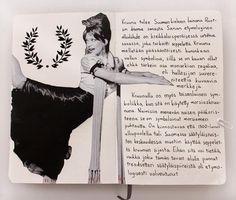 #kruunu #etymologia #morsian #sketchbook #collage #suomenkieli Petra, Collage, Instagram, Collages, Collage Art, Colleges