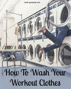 How To Wash Your Workout Clothes...get the stink out of them by following these tips!
