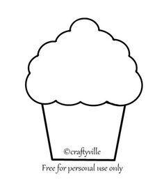 cupcake stencils printable - Google Search