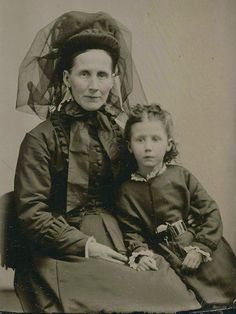 Together in Mourning, Tintype, Circa 1878 |