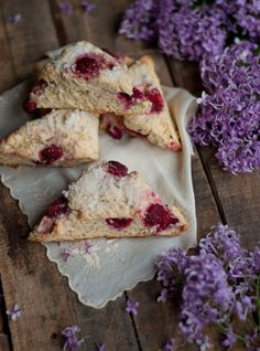 Lilac Sugar and Raspberry Scones | this heart of mine