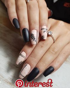 2019 Gorgeous Nail Designs to Try nail art designsnail artnail art art designnail art compilationbest nail artnew nail artnail designsthe best nail art designs compilationnailsnailnail polish designnail art compilation nail designs of designs of Gel Nail Art Designs, Black Nail Designs, Simple Nail Art Designs, Beautiful Nail Designs, Red Gel Nails, Acrylic Nails, Nail Nail, Cute Nails, Pretty Nails