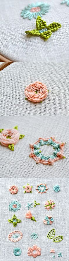 learn how to stitch flowers with the flower embroidery days