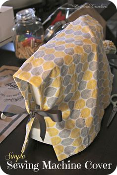 Simple Sewing Machine Cover using a pillowcase & ribbon.