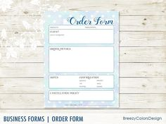 Order Form Templates Printable Custom Embroidery Business
