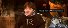I really want a weasley sweater... to complete my wardrobe.