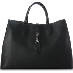 Gucci Black Soft Leather Jackie Tote as seen on Kate Moss