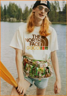 The North Face X Gucci Collection | Tom + Lorenzo The North Face, Gucci Spring, Campaign Fashion, Alessandro Michele, Puffy Jacket, Face Design, Quilted Jacket, Fashion Branding