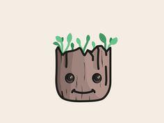 baby Groot by Aleksandar Savic #Design Popular #Dribbble #shots