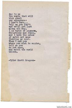 Typewriter Series #1187 by Tyler Knott Gregson