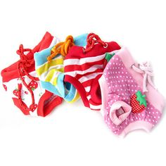 New Female Pet Dog Puppy Sanitary Pant Short Panty Striped Diaper Underwear Cute #unbranded