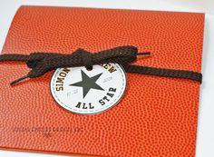 Basketball Foldover Invitation SAMPLE by socialcircles on Etsy, $7.25