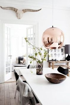 Copper dining: http://www.stylemepretty.com/living/2015/02/20/25-ways-to-add-copper/