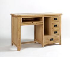 Westbury Oak Single Pedestal Desk - Our Westbury Oak range is hand built using high-grade oak. Every piece within the Westbury Oak range is carefully made with dovetailed drawers and comes complete with solid oak drawer bases and cabinet backs. The Westbury Oak range has classically-styled metal handles, which offset the light oak timbers beautifully.