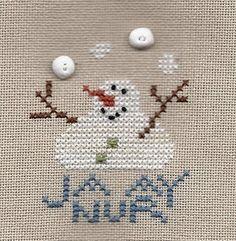Kit -A Round January Designer - Pine Mountain Designs