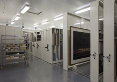 Museum storage equipment by Montel - mechanical mobile storage systems & mobile storage panel systems