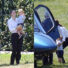 June 12, 2015 - Prince George with his nanny saying goodbye to uncle Harry. https://instagram.com/p/4dkR5GymCB/
