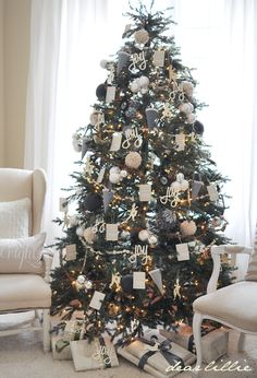 Dear Lillie: Gift Wrapping, Our Tree, Joy and Reindeer Cutouts and Imparting Grace