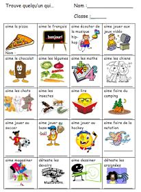 eTools for Language Teachers: La rentrée First Week Of School Ideas, First Day Of School Activities, French Teaching Resources, Teaching French, Classroom Resources, French Flashcards, French Worksheets, French Education, Core French