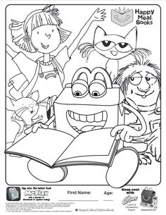 Here Is The Happy Meal Books Coloring Page Click Picture To See My