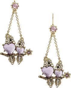bird earrings by Betsey Johnson