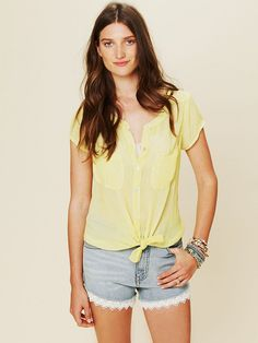 Free People We The Free Marble Effect Buttondown Top, $49.95