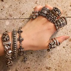 Business talk tonight with ✨ She wears my jewelries I'm so glad to let you know the beauty of jewelries✔️ ・ ・ ・ Bohemian Style Jewelry, Gothic Jewelry, Metal Jewelry, Silver Jewelry, Silver Bracelets, Chrome Hearts Ring, Silver Toe Rings, Silver Accessories, Jewelry Collection