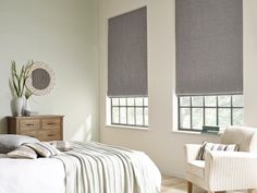 Usually considered a classic and traditional design, this Eternity Linen Cinder roman blind is given a contemporary twist with the varying tones of grey in the weave.