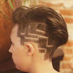 "39 Likes, 5 Comments - K Weissman (@hair_by_kkate) on Instagram: ""Too cool for school. #undercut #shavednape #chickfade #shorthairdontcare #clippercut #modernsalon…"""