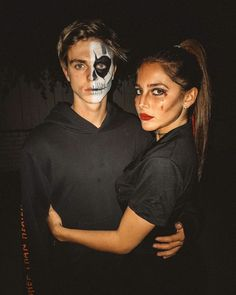 Halloween For More: Holloween Costumes For Couples, Halloween Costumes For Teens, Cute Halloween, Girl Halloween Makeup, Couple Travel, Halloween Disfraces, Skeleton Makeup, Costume Ideas, Relationship