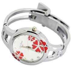 XinHua Rose Luxury Stainless Quartz Sport Watch Women Bangle Bracelet Watch New    Price:$9.24
