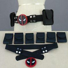 Deadpool X-Men Superhero Unisex Belt Accessories Costume Cosplay Props