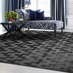 alfombra Provence gris/negro 468 | Tiendas On