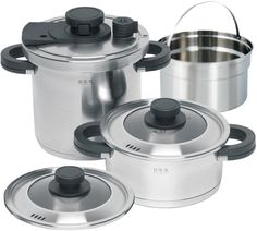 L'EQUIP B/R/K Germany 6-Piece Alpha Pressure Cooking Set, 7.9-Inch ** Check out the image by visiting the link.