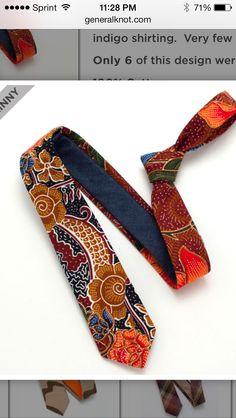http://www.generalknot.com/collections/neckties/products/earthy-batik-indigo-shirting-skinny