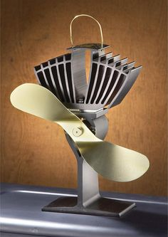 For woodburning stoves : The Ecofan needs no power except the heat generated by the stove.