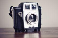 Kodak Brownie Twin 20. Produced in 1959. Isn't she lovely?
