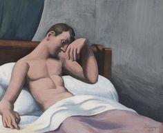 Roger de La Fresnaye (1885–1925), Le malade assis dans son lit, 1922, gouache…