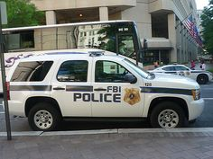 FBI Police Chevy Tahoe parked in downtown DC. Chevy Vehicles, Police Vehicles, Radios, Fbi Car, 4x4, Us Park, California Highway Patrol, 1st Responders, Federal Law Enforcement