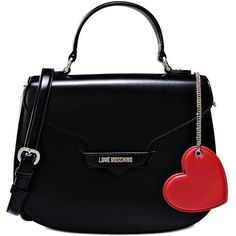 Love Moschino Handbag ($245) ❤ liked on Polyvore featuring bags, handbags, shoulder bags, moschino, black, love moschino, love moschino purse, handbags shoulder bags, man bag and pattern purse