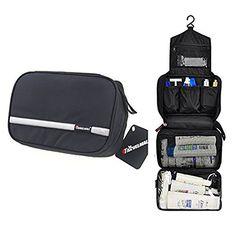 12.98 - Travel Toiletry Bag Business Toiletries Bag for Men Shaving Kit  Waterproof Compact Hanging Travel 7aeeb2c872e20