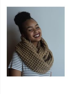 Infinity Scarf crocheted.  Available for purchase.
